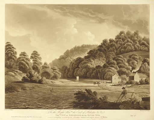 View at Redbrook in the River Wye, plate 13 from 'Views of the River Wye', engraved by F. Jukes, 1802