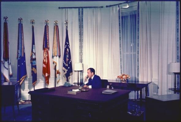 President Nixon: Talking to astronauts on the moon