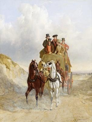 The Royal Mail Coach on the Road, 1841
