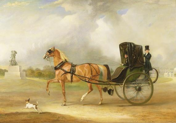 William Massey-Stanley Driving his Cabriolet in Hyde Park, 1833