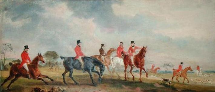 The Quorn Hunt: The Artist and his Friends Moving Off