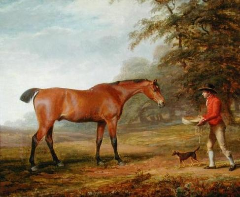 A Bay Horse Approached by a Stable-lad with Food and a Halter, 1789