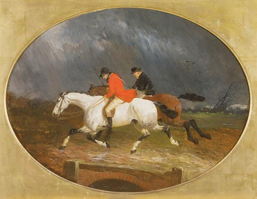 The Return from the Hunt in the Rain