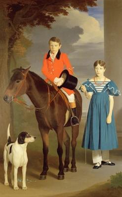 John Gubbins Newton and his Sister Mary, 1832-33
