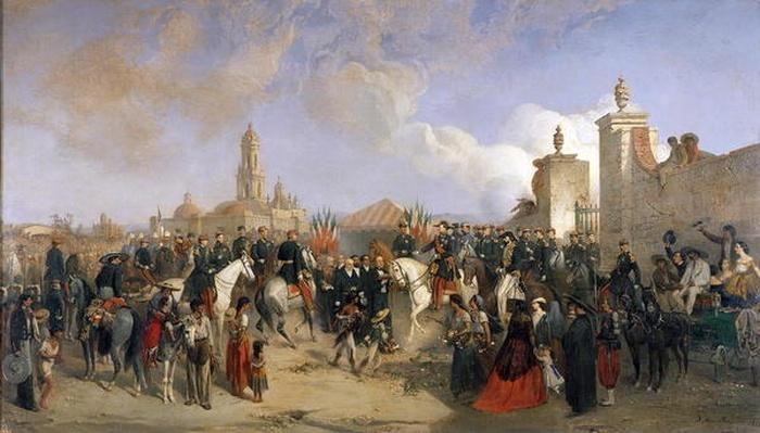 Entrance of the French Expeditionary Corps into Mexico City, 10th June 1863, 1869
