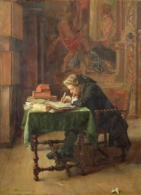 Young Man Writing, 1852