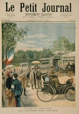 The Horseless Carriages, front cover of 'Le Petit Journal', 6th August 1894