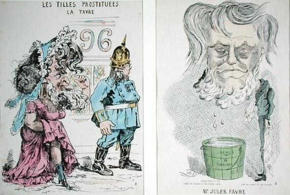 Two Caricatures of Jules Favre
