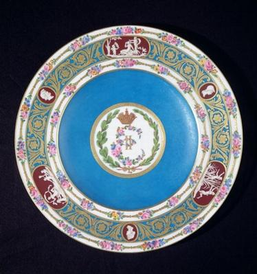 Plate from the service of Empress Catherina II
