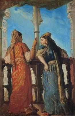 Jewish Women at the Balcony, Algiers, 1849