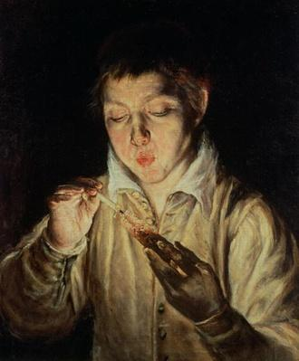 A Child Blowing on an Ember, early 1570s