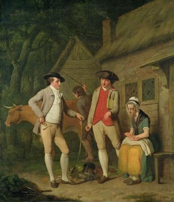 Widow Costard's Cow and Goods, Distrained for Taxes, are Redeemed by the Generosity of Johnny Pearmain, 1782