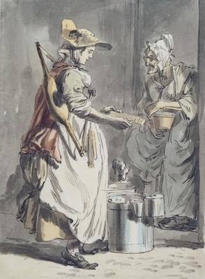 London Cries: A Milkmaid, c.1759