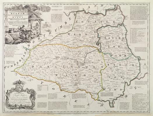 Map of Durham, 1777