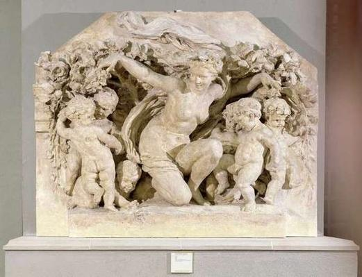 Triumph of Flora, relief taken from the facade of the Flora Pavilion of the Louvre Palace, 1866
