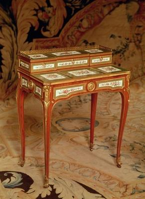 Woman's desk with panels of Sevres porcelain, 1766