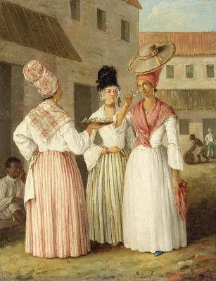 A West Indian Flower Girl and Two Other Free Women of Colour, c.1769
