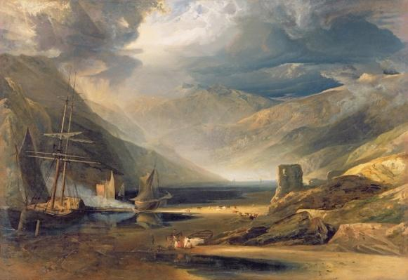 A Storm Passing Off on the Coast of Merionethshire, 1818