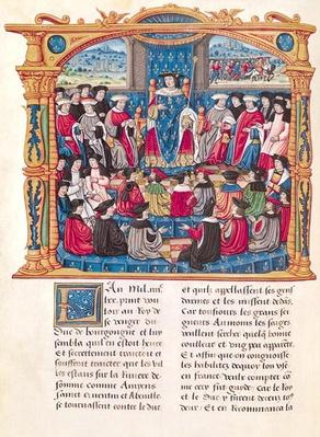 Ms 18 Fol.66v Louis XI Begins the War against Charles le Temeraire, Duke of Burgundy, from the Memoirs of Philippe of Commines