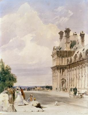 View near the Pont Royal, with the Pavillon de Flore, Tuileries