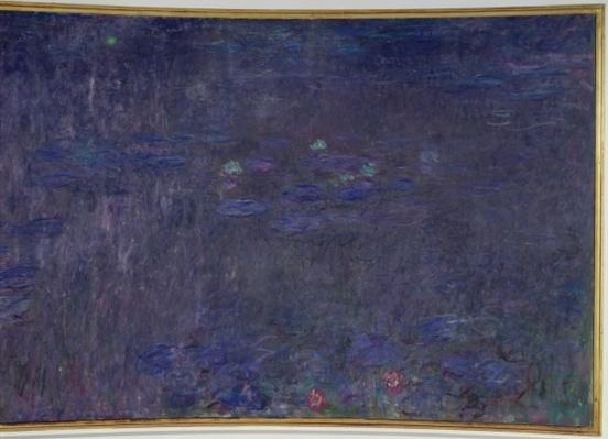 Waterlilies: Reflections of Trees, detail from the right hand side, 1915-26