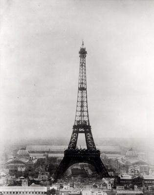 Construction of the Eiffel Tower, Paris, 31st March 1889