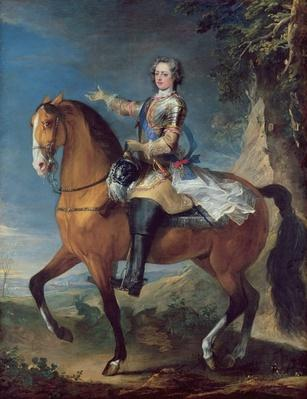 Equestrian Portrait of Louis XV