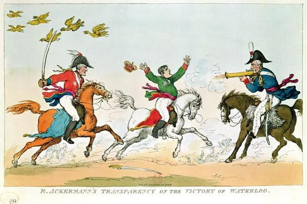 The Battle of Waterloo, 18th June 1815, published by Ackermann, 1815-20