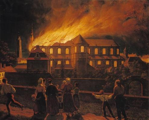 Fire at Cambrai Cathedral, 9th September 1859