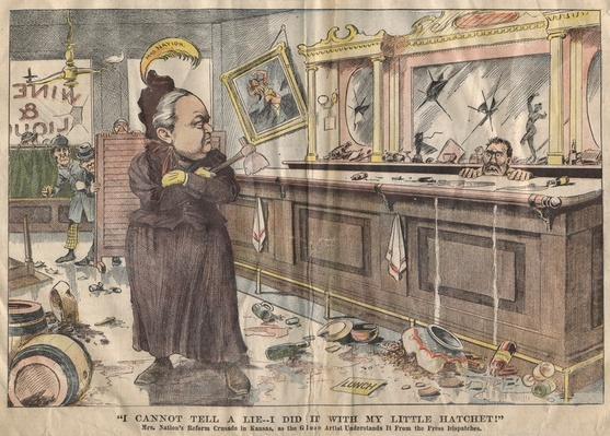 Cartoon Featuring Carrie Nation | Ken Burns: Prohibition