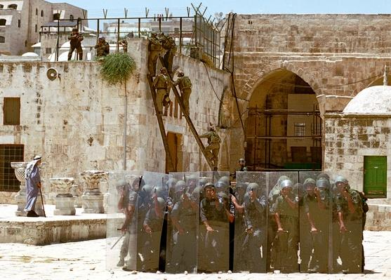 Israeli Police Officers On Temple Mount in Jerusalem | Palestine-Israel Conflict