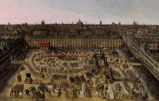 The Place Royale and the Carrousel in 1612