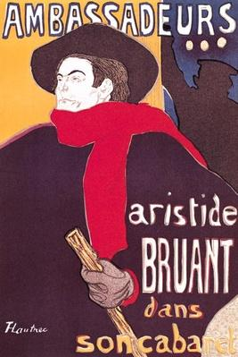 Poster advertising Aristide Bruant