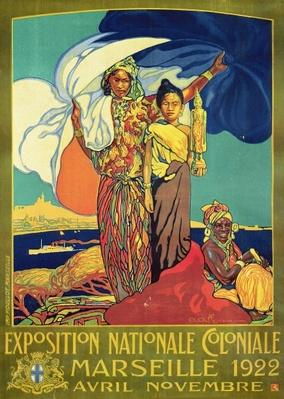 Poster advertising the 'Exposition Nationale Coloniale', Marseille, April to November 1922