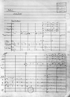 Score sheet of Act 1 of 'Pelleas and Melisande', 1902
