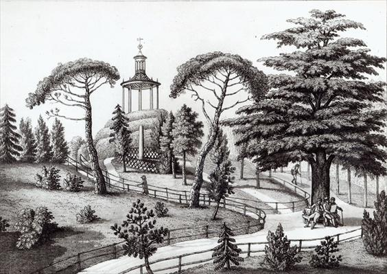 The Labyrinth from the Jardin des Plantes, Paris, engraved by Francois Aubertin