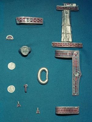 Selection of jewellery from the Treasure of Childeric
