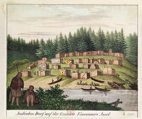 Indian Encampment on Quadra Island, Vancouver Islands