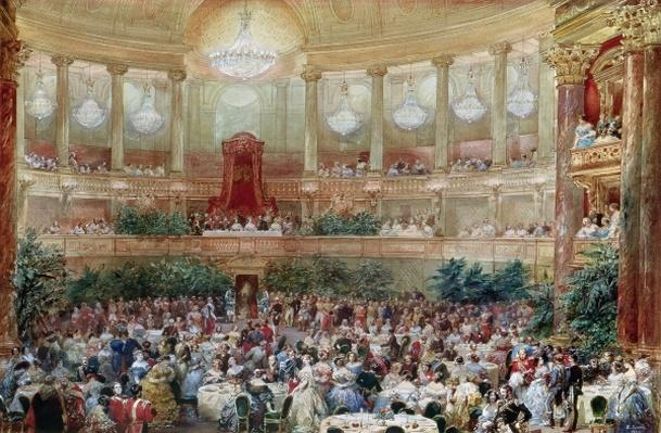 Dinner in the Salle des Spectacles at Versailles, 1854
