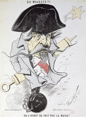'Sa Majeste!!! Ou l'habit ne fait pas le moine!', caricature of Louis-Napoleon Bonaparte