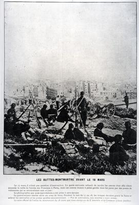 Cannons on the Buttes-Montmartre on the Eve of the 18th March, 1871
