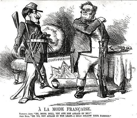 'A La Mode Francaise', from 'Punch, or the London Charivari', August 4th, 1860