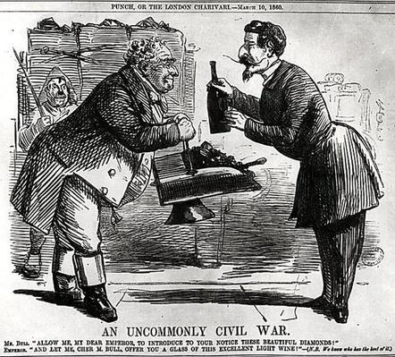 'An Uncommonly Civil War', from 'Punch, or the London Charivari', March 10th, 1860