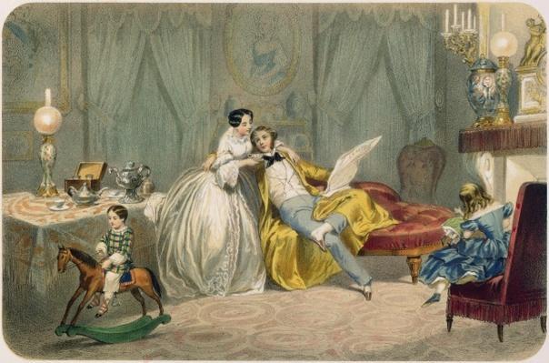 'Au coin du feu', from the 'Soirees parisiennes' series