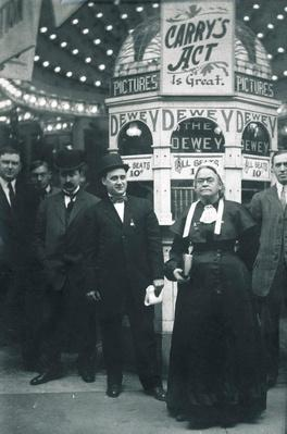 Carrie Nation at the Dewey Theatre | Ken Burns: Prohibition