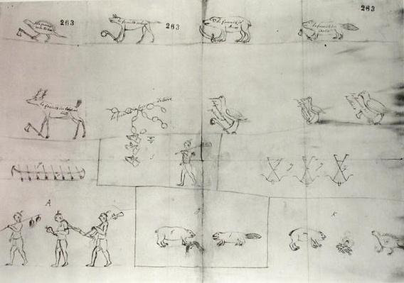 Iroquois Pictogram, 12th July 1666