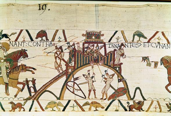 Attack on the Town of Dinan, detail from the Bayeux Tapestry, before 1082