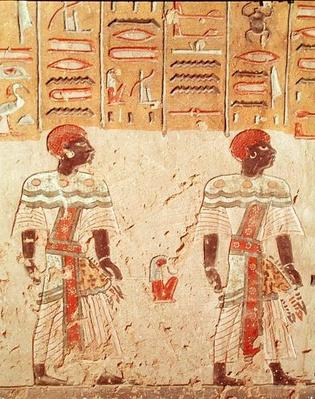 Nubians, from the Tomb of Ramesses III