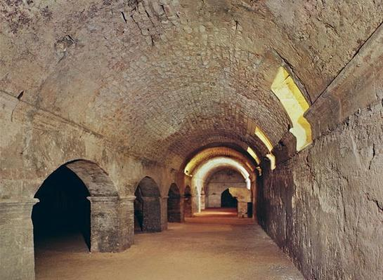 The crypto-porticus, possibly used as a grainstore or horrea