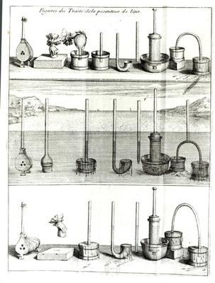 Illustration from 'Traite de la Pesanteur de l'Air' by Blaise Pascal